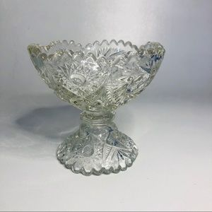 Small Vintage Crystal Candy Dish